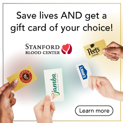 Stanford Blood Center: Gift cards