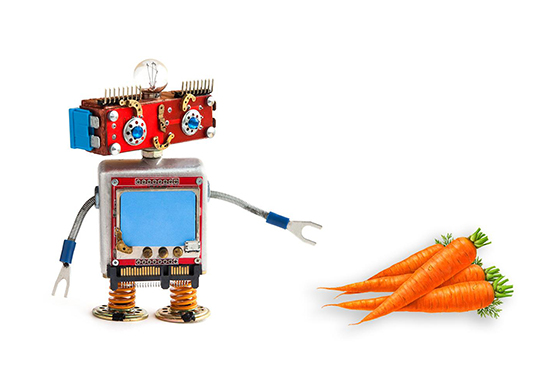 Would a robot choose carrots or candy