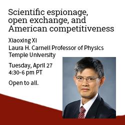 Scientific espionage, open exchange
