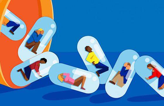 Opioid illustration