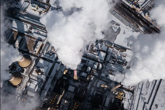 Pollution from Chinese coal plant