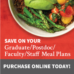 Faculty/staff/post-doc meal plans