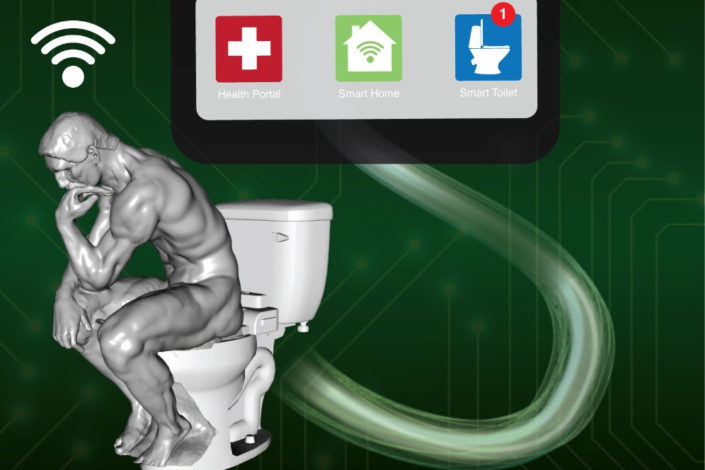 Illustration of smart toilet