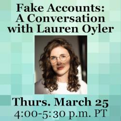 Zoom conversation with Lauren Oyler
