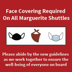 Face covering required on Marguerite