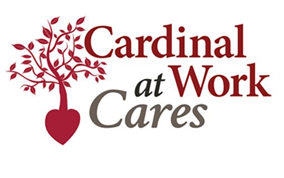 Cardinal at Work Cares logo