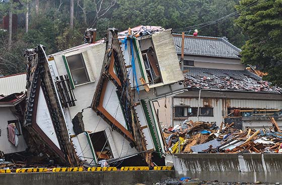 Earthquake, tsunami damage in Japan