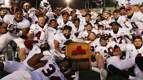 The football team with the Axe