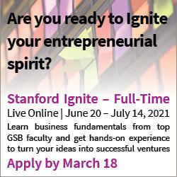 Promoting Stanford Ignite program