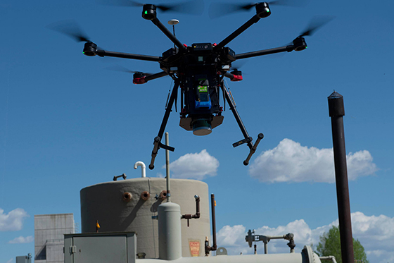 Tracking methane leaks with drones