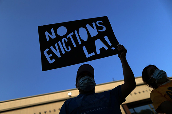 Eviction sign in LA