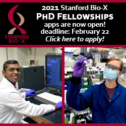 Bio-x PhD Fellowship applications