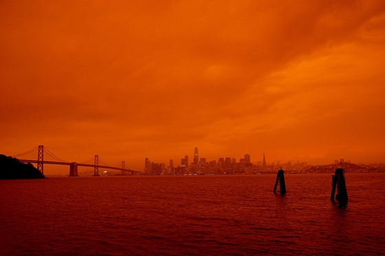 Wildfire effect in San Francisco