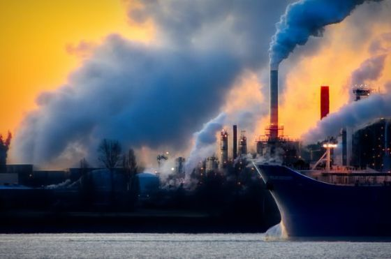 Carbon emissions occurring