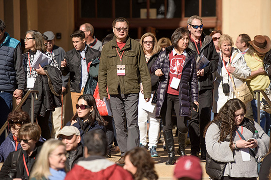 Stanford parents exiting MemAud