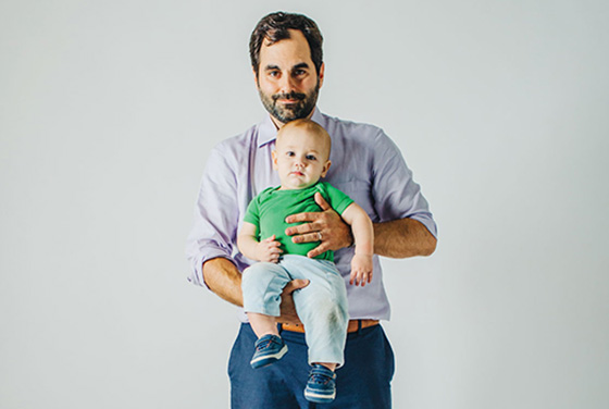 Michael Frank and his son