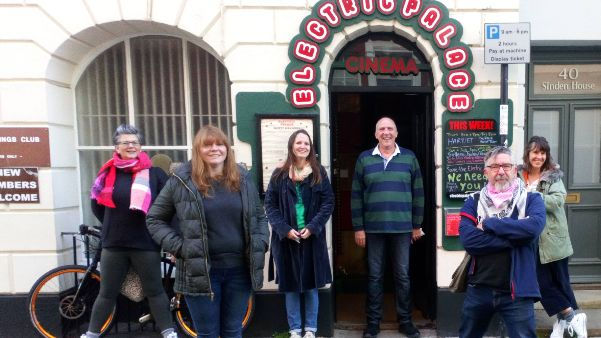 Electric Palace staff and volunteers outside cinema