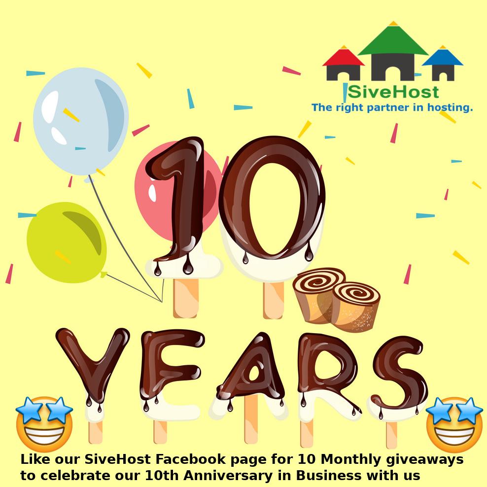 SiveHost.com 10th year Celebration