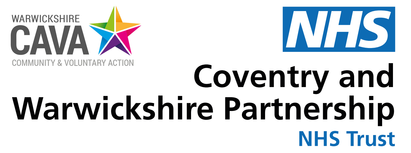 Coventry and Warwickshire Partnership NHS Trust logo and Warwickshire Community And Voluntary Action logo
