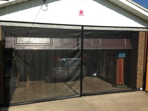 model b garage door screen