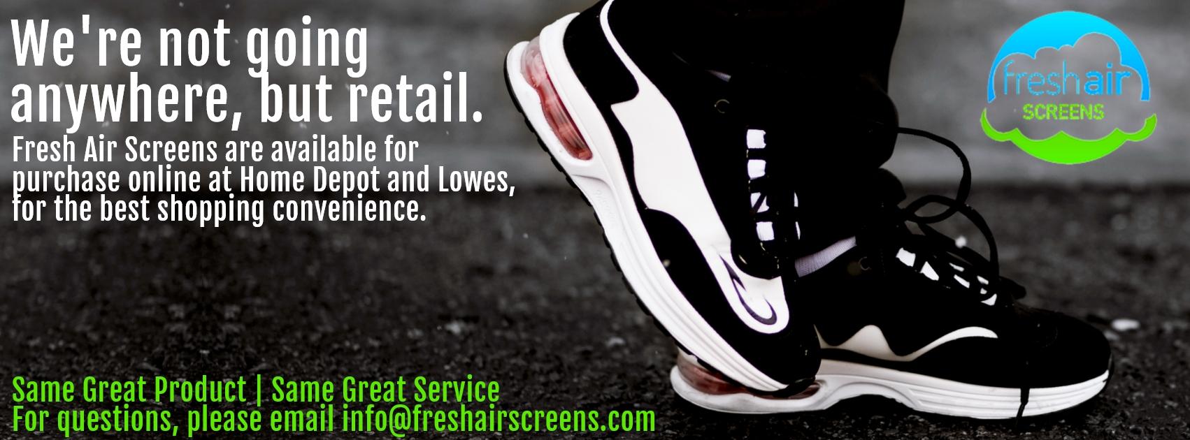 Fresh Air Screens Retail Announcement