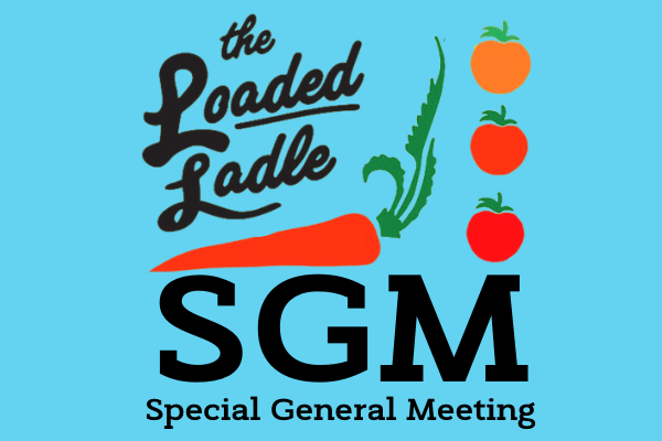 The letters SGM and the words Special General Meeting against a blue background