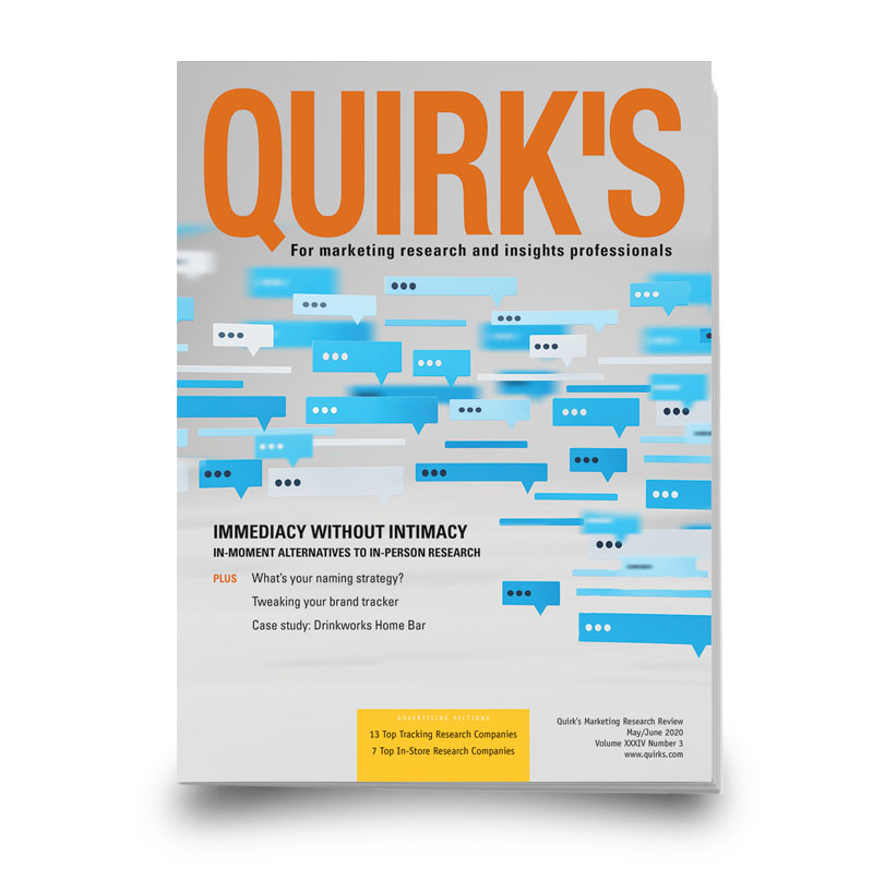 May/June Digital Edition - Quirk's Marketing Research Review
