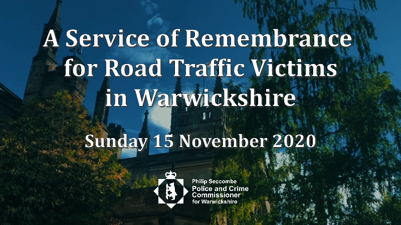 A service of remembrance for road traffic victims in Warwickshire