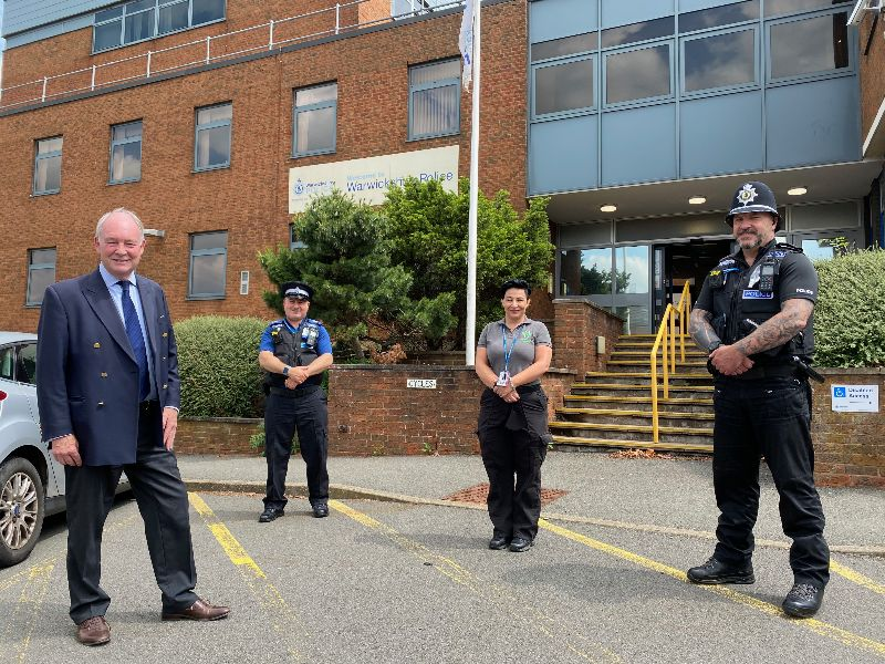Philip Seccombe with members of the Safer Neighbourhood Team and Community Warden