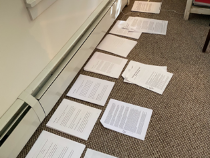 Manuscript of Lindsey Pollak's new book, Recalculating