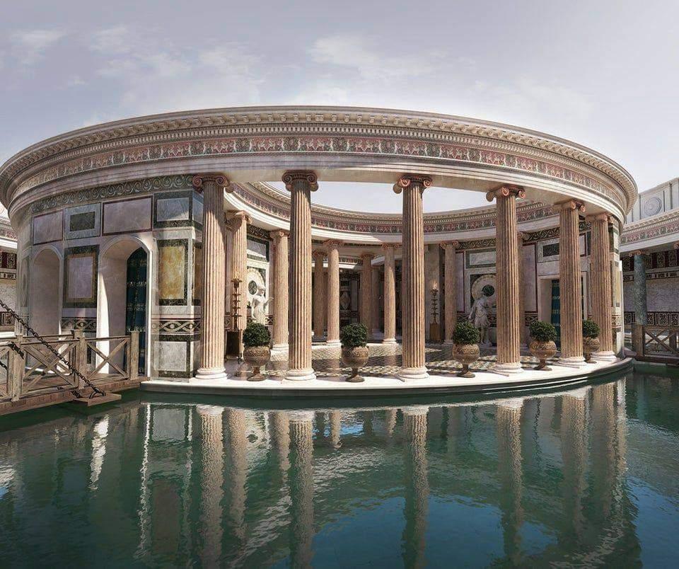 Pravděpodobný vzhled starověké Hadrianovy vily