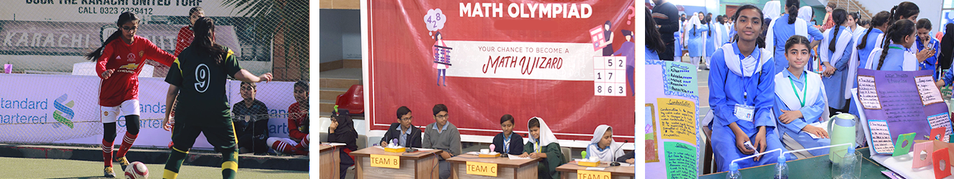 Football championship, Math Olympiad and Science Fair