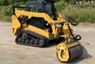 Road Widener Offset Vibratory Roller attachment delivers safety for road crews