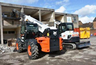 Bobcat Telehandler and mini-excavator head to Belfast for McCusker Demolition