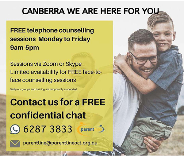 Parentline free counselling advert