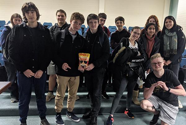 "Students participate in a ""rap battle"""