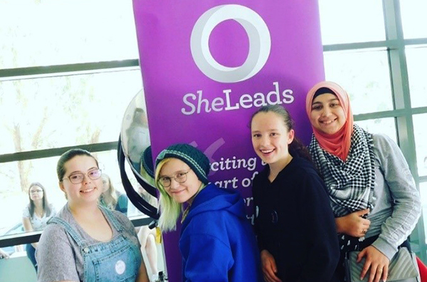 Pictured: Students attending the She Leads Conference