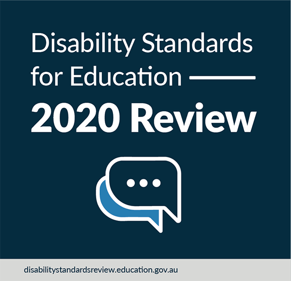 Disability Standards for Education 2020 Review graphic