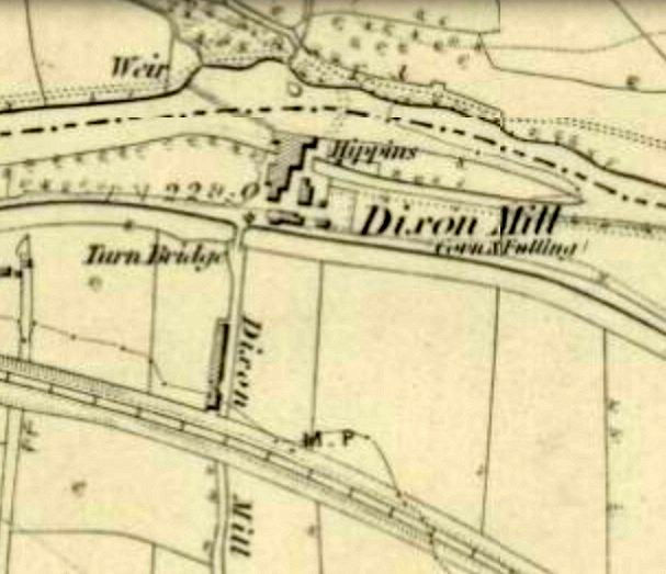 Ordnance Survey map of site of Saltaire, 1852