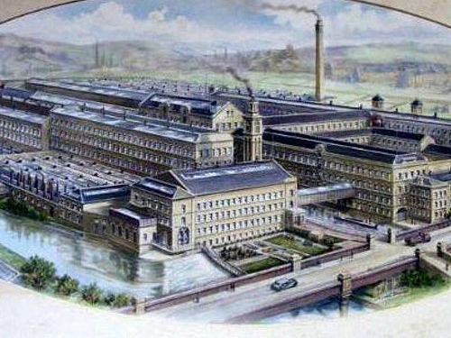 Drawing of Salts Mill from about 1920