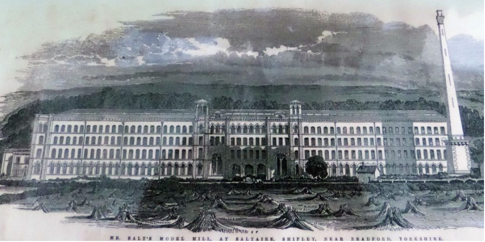 'Mr Salts model mill' from the Illustrated London News, 1853