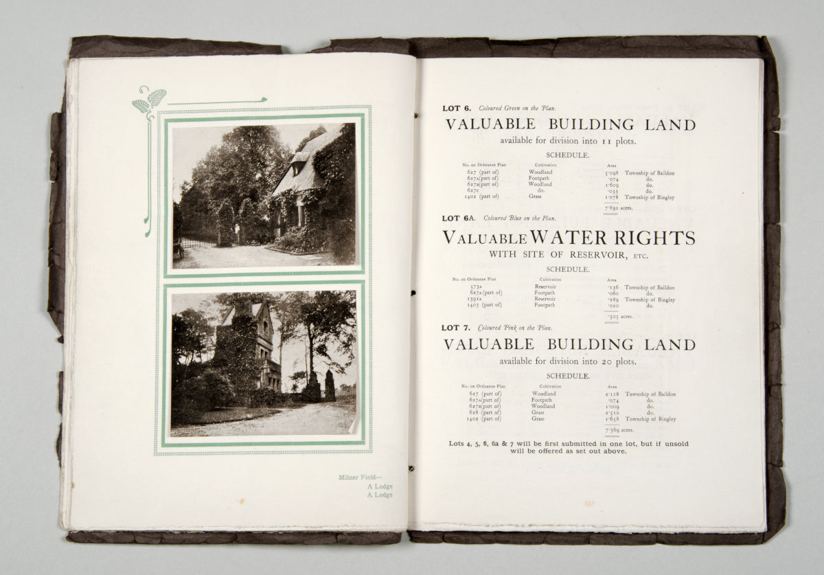 Estate sales catalogue 1922 showing example lots