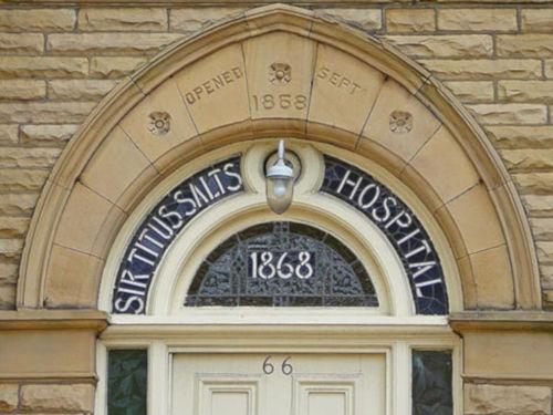 A door at the Sir Titus Salt hospital