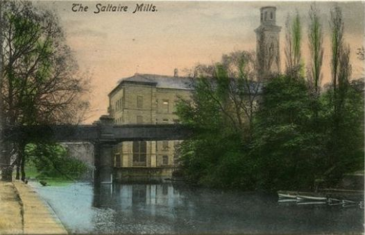 New Mill and the bridge over the river