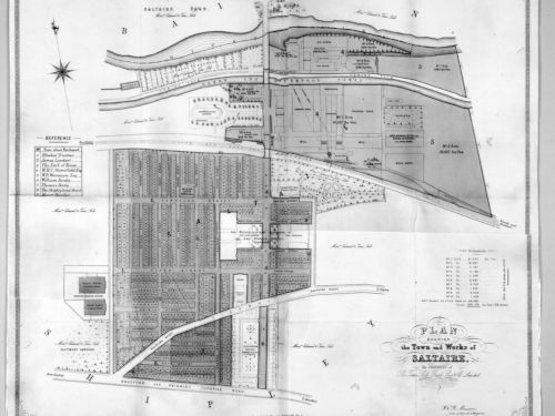 Plan of Saltaire by architect William Mawson, 1881