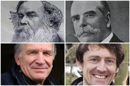 Composite photograph of Titus Salt, James Roberts and others