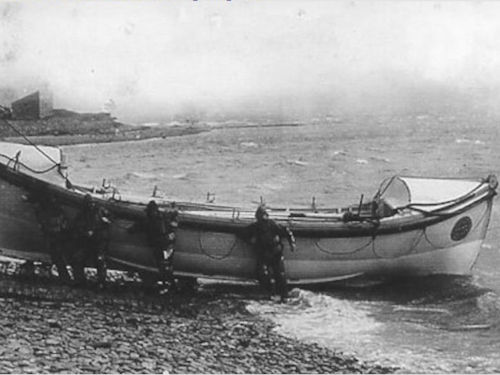 The lifeboat 'Saltaire' at Stromness, Orkney, a gift from Sit Titus Salt, 1872