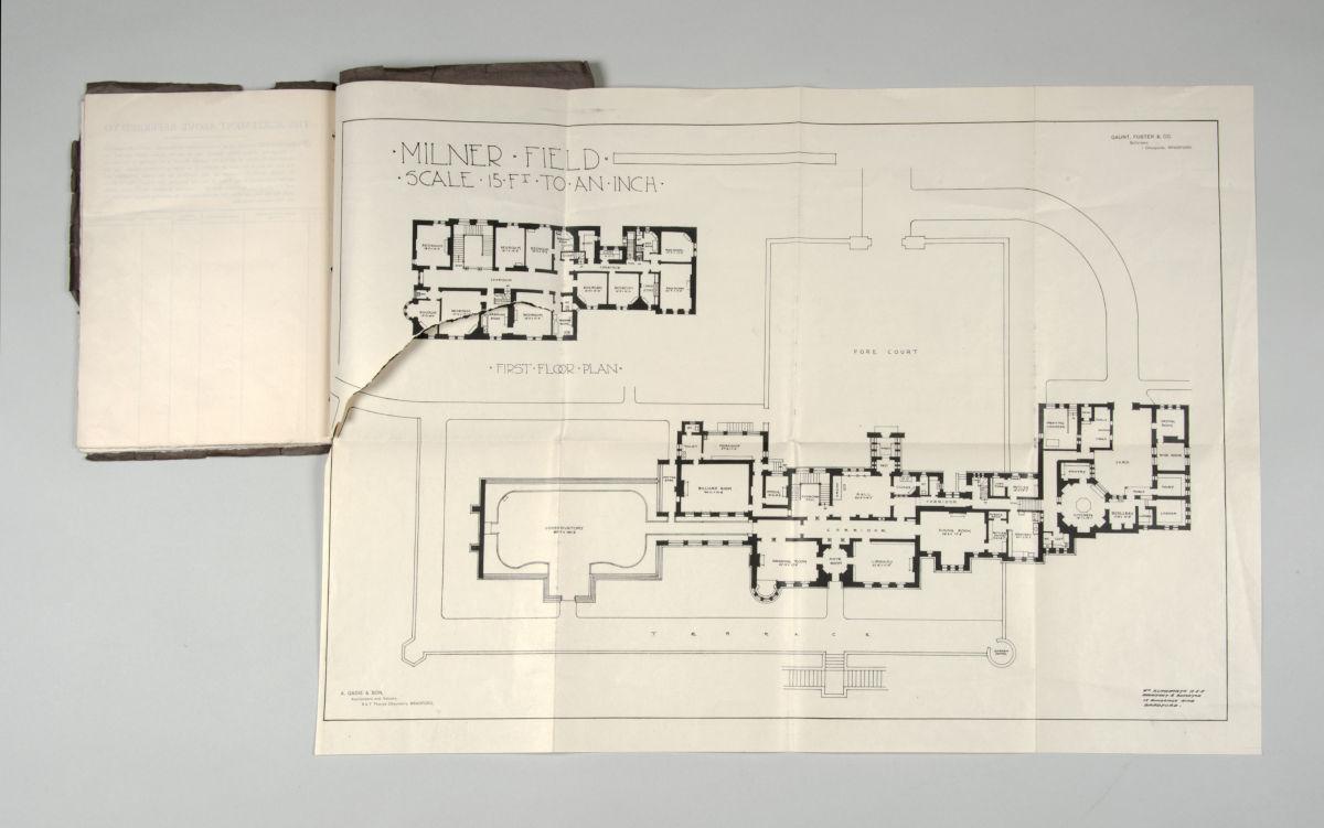 Estate sales catalogue showing floor plan, 1922