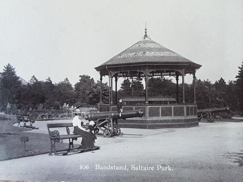 The original bandstand in Roberts Park