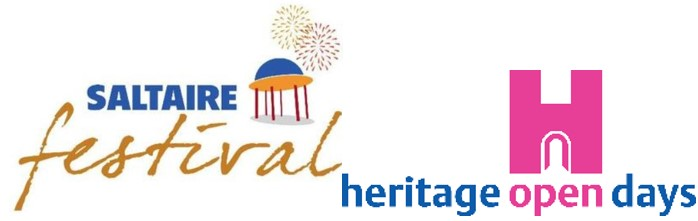 Logos of Heritage Open Days and Saltaire Festival